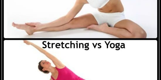 the difference between yoga exercises and stretching exercises