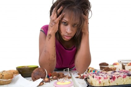 A person is thought to be struggling with emotional binge eating when their instances of unmanageable overeating are prompted by such feelings as sadness, anxiety, shame, anger, frustration, or even happiness. Photo Credit: fittipdaily.com