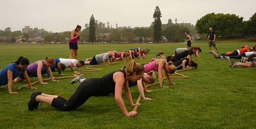 Workout With Boot Camp Training