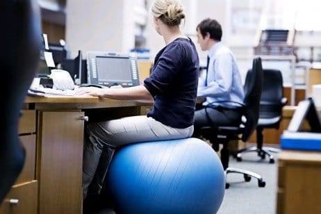 Using Stability Ball As An Office Chair