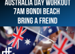 AUSTRALIA DAY WORKOUT ON BONDI BEACH