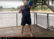 single arm staggered stance kettlebell swing